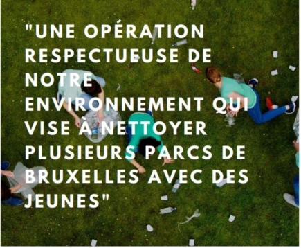 Clean-Up: plus d'un millier de jeunes pour une action concrète de nettoyage des parcs à Bruxelles.